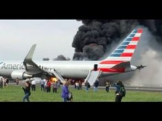 American Airlines plane catches fire at O'Hare Airport, passengers evacuated-USA TODAY Sports Catcher, Chicago Airport, O'hare International Airport, Airline Flights, Usa Today Sports, Emergency Response, Dashcam, Flight Attendant, American