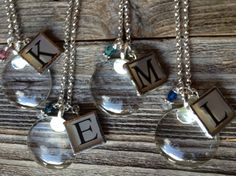 A personal favorite from my Etsy shop https://www.etsy.com/listing/482418966/magnifying-glass-necklace-with-initial