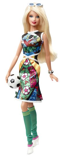 Romero Britto Barbie Doll