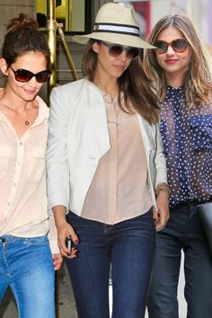 Silky button-downs (think Equipment tops) are big for the celebrity set
