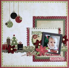Christmas 1 photo 1 page Imaginarium Designs: Introducing the Chic Carole Maurin Christmas Scrapbook Layouts, Love Scrapbook, Birthday Scrapbook, Scrapbook Paper Crafts, Scrapbook Cards, Scrapbook Photos, Scrapbook Templates, Scrapbook Sketches, Scrapbook Page Layouts