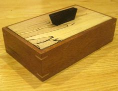 Spalted Maple/Mahogany Keepsake Box #3