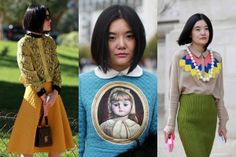 Miao Miao, Elle China: I like her style, too! esp. the skirts...