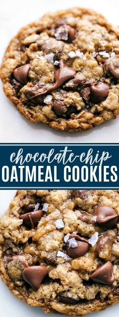 cookie tips Soft, chewy, buttery, and best of all CHOCOLATEY: these oatmeal chocolate chip cookies are the absolute best! Plus tips to make these perfect everytime! Chocolate Chip Cookies Rezept, Oatmeal Chocolate Chip Cookie Recipe, Oatmeal Chocolate Chip Cookies, Chocolate Chip Dessert, Oatmeal Dessert, Quick Chocolate Desserts, Recipes With Chocolate Chips, Healthy Chocolate Cookies, Easy Chocolate Desserts