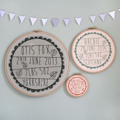 Personalised Baby Birth Hoop Frame - 100 less ordinary gift ideas