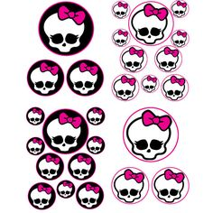 INSTANT DOWNLOAD Monster High - for Balloon, Stickers, Lollipop, Favor bags, Cups - Monster H birthday party - PRINTABLE