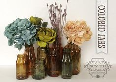 Color Tinted Glass Jars - Fancy That Design House & Co.