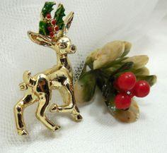 Gerry's 1950s Reindeer Pin/Brooch Vintage Gerry's by Beadgarden55, $14.00