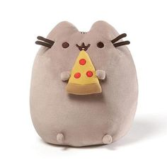 Fans of Pusheen the grey tabby cat will love this adorable Pusheen Pizza Slice Plush Toy from GUND. Pusheen holds a small pepperoni pizza slice in her tiny paws, and is extra plump for the perfect cuddles, hugs and nighttime snuggles. Chat Pusheen, Pusheen Cat Plush, Pusheen Toys, Pusheen Stuffed Animal, Stuffed Animals, Grey Tabby Cats, Pizza Cat, 5 Pizza, Beanie Boos