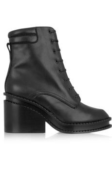 Robert Clergerie Warti leather ankle boots | NET-A-PORTER
