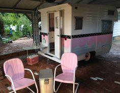 Vintage travel trailer, 1965 Safari, super cute little pink glamper camper in RVs & Campers | eBay Motors