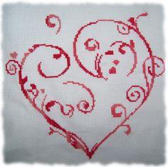 Point de croix : Coeur