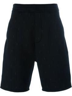 NEIL BARRETT Embroidered Lightning Bolt Shorts. #neilbarrett #cloth #shorts