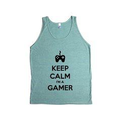 Keep Calm I'm A Gamer Game Video Games Computers Xbox Playstation PC Gaming Nerd Nerds Geek Geeks Unisex Adult T Shirt SGAL3 Men's Tank
