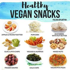 Healthy Easy Vegan Snacks Easy plant based snacks you can throw together in less than five minutes! Plant Based Diet Meals, Plant Based Meal Planning, Plant Based Snacks, Plant Based Eating, Easy Plant Based Recipes, Healthy Vegan Snacks, Vegetarian Snacks, Vegan Foods, Vegan Snacks On The Go