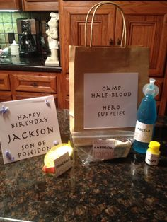 Percy Jackson birthday party favors-hero supplies