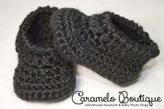 Crochet Black Baby Boy Shoes-Baby Boy Booties-Baby Boy Loafers-Baby Boy Slippers-Baby Boy Photo Prop-Newborn Photo Props-Black Newborn Shoes by CarameloBoutique on Etsy https://www.etsy.com/listing/86423217/crochet-black-baby-boy-shoes-baby-boy