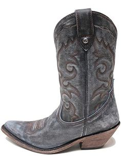 LIBERTY BLACK Vintage Azul Cowgirl Boots LB711219DBlue10M *** See this great product. (This is an affiliate link) #WomensMidCalfBoots