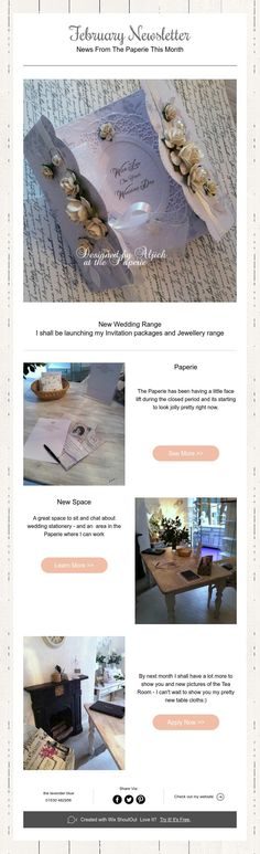 February Newsletter  News From The Paperie This Month