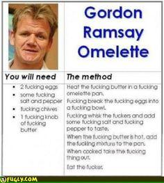 The Gordon Ramsay Omlet