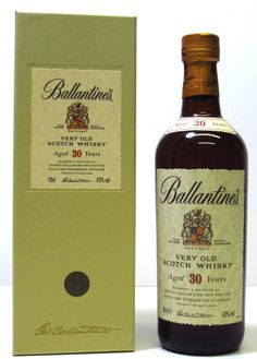 Ballantine's 30 Year Old Blended Whisky Rum Bottle, Liquor Bottles, Whiskey Bottle, Blended Whisky, 30 Years Old, Scotch Whisky, Tequila, Bourbon, Alcohol