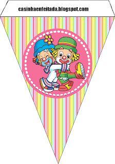 Charming Child: Patati Patata Party Kit For Girls Free Circus Birthday, Circus Theme, Circus Party, Birthday Party Themes, Circus Activities, Craft Activities, Clown Crafts, Clown Party, Send In The Clowns
