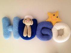 26 Crochet Letter Patterns - The Funky Stitch Crochet Alphabet Letters, Crochet Letters Pattern, Applique Letters, Cute Alphabet, Letter Patterns, Crochet Patterns, Filet Crochet, Easy Crochet, Crochet Toys