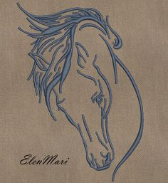 Horses Embroidery Designs - What Machine Embroidery Design Are You Looking For With A Horse To Find The Design Exactly Under Your Project You Need To Know Some Technical Features Of Your Embroidery Machine The Size Of The Hoop Owl Embroidery, Embroidery Materials, Border Embroidery, Iron On Embroidery, Embroidery Transfers, Japanese Embroidery, Machine Embroidery Patterns, Vintage Embroidery, Embroidery Stitches