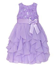 Look what I found on #zulily! Lilac Ruffle Tier Dress - Toddler & Girls #zulilyfinds