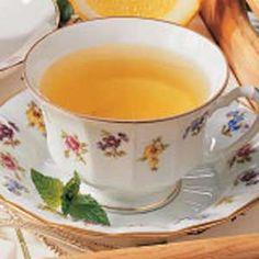 Home Recipes, Tea Recipes, Crockpot Recipes, Spearmint Tea, Homemade Tea, Peppermint Leaves, Lemon Balm, High Tea, Chocolate