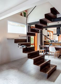 Basement stairs - There is no shortage of stairway design ideas to make your stairway a charming part of your home. House Staircase, Staircase Remodel, Loft Stairs, Staircase Design, Staircase Ideas, Open Staircase, Basement Stairs, Basement Ideas, Espace Design