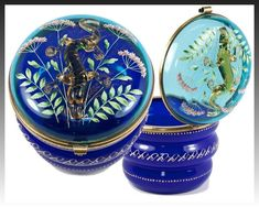 Decorative Arts 19th C Perfume Bottles French Cobalt Porcelain Scent Bottle Enameled Decoration Sterling Top To Assure Years Of Trouble-Free Service