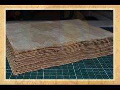 Hand bound book - Bookbinding - Encadernação artesanal -Envelhecimento de papel - Perguntas Frequentes - Parte 1 - Estúdio Brigit