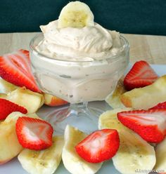 This Peanut Butter Yogurt Dip is the PERFECT healthy snack! Only 40 calories and deliciously creamy!