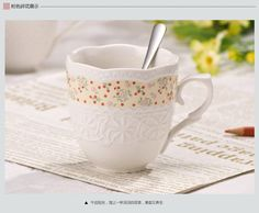 HG Homeart Coffee cup mug embossed floral garden style ceramic cup creative cup glass fashion wholesale, View Mug, Product Details from Dongguan Haogao Electronic Technology Co., Ltd. on Alibaba.com