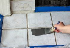 How To Paint Fireplace Tile - DIY Fireplace Makeover Transform your fireplace on a tight budget with this easy step-by-step tutorial on how to paint your fireplace surround and tile. Plus, learn how to easily paint stained wood with low VOC products. Paint Fireplace Tile, Tile Around Fireplace, Fireplace Tile Surround, Fireplace Update, Brick Fireplace Makeover, Fireplace Hearth, Fireplace Remodel, Stone Fireplaces, Fireplace Ideas