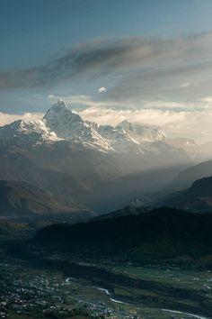 "ponderation:  "" Village and Himalaya by Tony Reshef  """