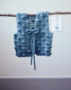 Tuto : Le gilet de berger popcorn (crochet) - Zess.fr // Lifestyle . mode . déco . maman . DIY