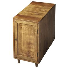 Wet Sand Mango Wood Chairside Storage Cubby | Overstock.com Shopping - Great Deals on Butler Coffee, Sofa & End Tables
