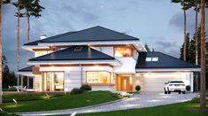 Dom z widokiem - zdjęcie 4 Big Houses Inside, House Inside, Amazing Architecture, Modern Architecture, Modern Mediterranean Homes, Luxury House Plans, Dream House Exterior, Modern House Design, Villas