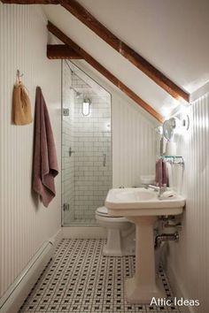 Attic Bathroom Ideas Sloped Ceiling Lovely Small Bathroom with Sloped Ceiling – Samueldecor – Biancafreeling. Small Attic Bathroom, Attic Master Bedroom, Loft Bathroom, Upstairs Bathrooms, Attic Rooms, Bathroom Layout, Bathroom Ideas, Bathroom Designs, Sloped Ceiling Bathroom