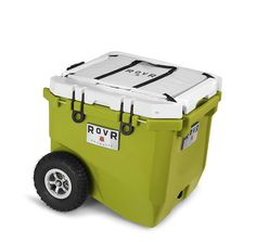 RovR Wheeled Camping Rolling Cooler with Wheels 45 qt (Moss Green) *** Details can be found by clicking on the image. (This is an affiliate link) Cooler With Wheels, Rolling Cooler, Performance Wheels, Cooler Box, Ice Bag, All Terrain Tyres, Beach Gear, Rubber Tires, Outdoor Cooking
