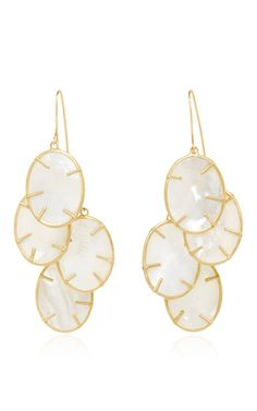 Silver Dollar Cluster Earring by ANNETTE FERDINANDSEN for Preorder on Moda Operandi