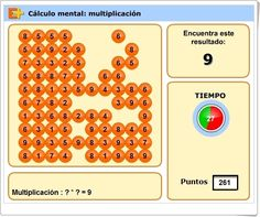 """Cálculo mental: Multiplicación"" (Juego de Matemáticas de Primaria) Calculator, Mental Calculation, Maths Area, Multiplication Tables, Math Games, Learn Spanish"