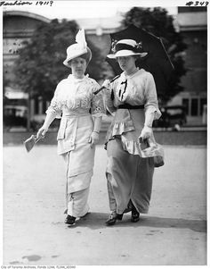 The epitome of Edwardian style, 1911. WIlliam James family fonds, City of Toronto Archives.