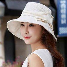 UV bucket hat with bow for women outdoor summer sun hats