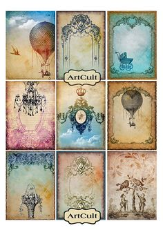 ANTIQUE STYLE TAGS Digital Collage Sheet Jewelry by ArtCult, $4.60