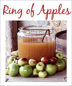 Add a special touch by building a ring of apples around the punch bowl of cider