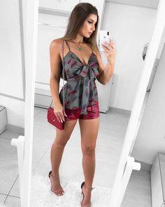 ♥️sem palavras para esse look blusa estampa exclusiva mais shorts Courino disponível nas lojas♥️#somenteatacado#@mariellasarto
