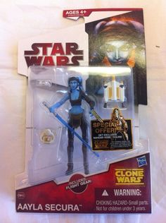 AAYLA SECURA comes to you new in package. Please see the photo for the exact item you are purchasing. From Hasbro comes this action figure in the Star Wars toyline! This is a Very Nice Collectible, Hard not to pull right out of the Package!